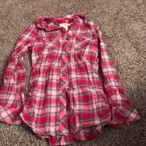 OP pink flannel never worn